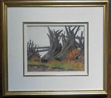 STUART CLIFFORD SHAW 1896-1970 ORIGINAL OIL PAINTING SIGNED DEADWOOD FIELD PATH
