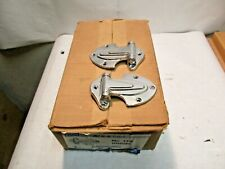 12 pair Kason No. 139 Chrome Hinges Offset 1/8 - New In The Box - NR