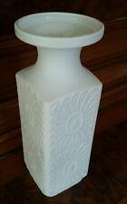 Royal KPM Vase Bisquit Porzellan BLÜTEN Relief Weiß H  cm x B  cm - neuwertig!