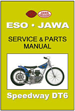 JAWA ESO Workshop AND Parts Manual Speedway DT6 2V Maintenance Service & Repair