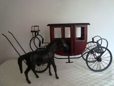 Byers Choice Williamsburg Rare Horse and Coach Carriage Maroon 2001