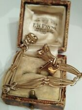 9ct Gold Fancy Link Bracelet With Large Clasp