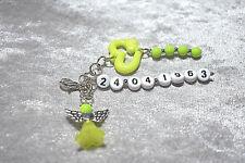 Key Chain Guardian Angel With Date Pendant Anniversary Wedding Angel Christening
