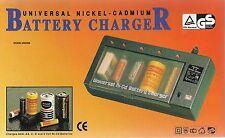 Cargador Universal de baterías, AAA, AA, C, D y 9V. NI-Cd Recargables- MW-398
