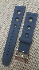 Original Breitling Blue Rubber Caoutchouc Racer watch strap & buckle 22mm