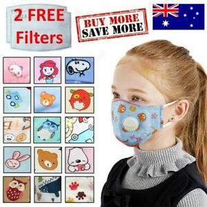 5 Pack Kids Face Mask Children Anti Air Pollution Masks Washable Reusable Cover
