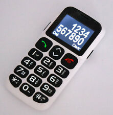 QUAD Band GSM Mobile CELL Phone for Senior Elder BIG KEY FONT LOUD RING WHITE