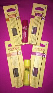 Burts Bees Sweet Almond Oil & Passion Fruit Oil Lip Oils~ U Pick Flavor Lip Balm