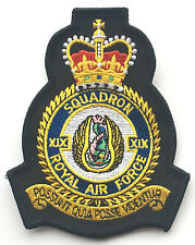 RAF No.19 Squadron Royal Air Force Embroidered Crest Badge Patch Official Crest