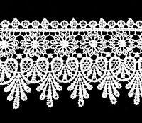White Lace Edge Trim 8 cm Wide Craft Sew Bride Wedding Ribbon Flower Luxury DIY