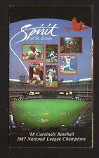 St Louis Cardinals--1988 Pocket Schedule--Budweiser