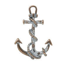 2 pc Charm Pendants Anchor Antique Copper White Spray Painted 3.8cmx2.7cm LC4006