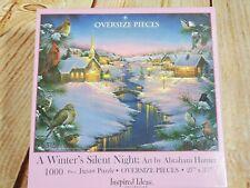 Abraham Hunter - A Winter's Silent Night - 1000 OVERSIZE PCS  Puzzle New Sealed