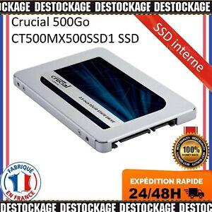 "Crucial MX500 2.5"" 500 Go SATA III SSD Interne CT500MX500SSD1 2,5 Pouces NEUF FR"