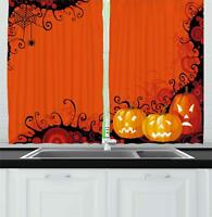 "Spider Web Kitchen Curtains 2 Panel Set Window Drapes 55"" X 39"" by Ambesonne"
