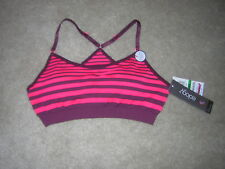IDEOLOGY Red/Burgundy Low Impact Bra Top Size Large NWT