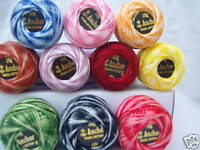 10 VARIEGATED ANCHOR Embroidery Pearl Cotton. No.8, 10 Different colours