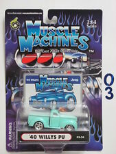 MUSCLE MACHINES  '40 WILLYS PU  02-24   1:64 SCALE