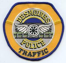 DES MOINES IOWA IA Motorcycle Traffic Enforcement Unit POLICE PATCH