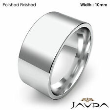Women 10mm Platinum 950 18.4gm Sz 7-7.75 Wedding Band Comfort Flat Pipe Cut Ring