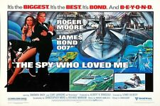 """JAMES BOND - THE SPY WHO LOVED ME - MOVIE POSTER 18"""" X 12""""  - ROGER MOORE"""