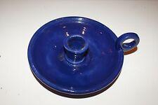 Blue Ceramic Taper Candle Holder L#1476