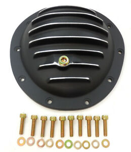 GM Aluminum Front Differential Cover Kit 10 Bolt 77-91 Suburban Black Painted