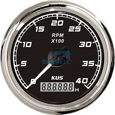 KUS Marine Tachometer Boat Tacho Gauge Car Truck Digital Hourmeter 0-4000 RPM