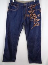 Delf Trading Inc Imperious Mens Jeans Size 36Wx34L Men's Blue Wings Pattern