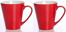 Ritzenhoff & Breker of Germany Bright Coloured Mugs Set of 2 Red