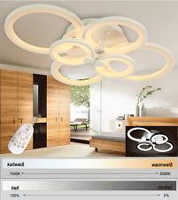 LED Deckenleuchte 6067 weiße Metallrahmen Lichtfarbe/ Helligkeit einstellbar A+