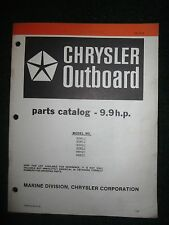 1981-1982 Chrysler Outboard 9.9 HP Parts Catalog Manual 92H1J 92H2J 98H2C +