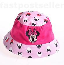 Kids Girls Pink Mouse Toddler Sunny Buckler Bucket Cap Round Hat 2-8Y