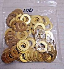 """Lamp Parts- Brass Plated Steel Washers - 3/4"""" OD x 3/8"""" ID - Lots of 100"""