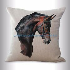 US SELLER- equine horse equestrian cushion cover decorative pillows and throws