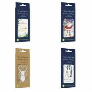 Tom Smith Pack of 6 Gift Tags with coordinating ribbon