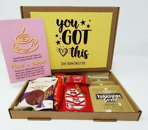 Tea Treat Box Drink Hamper Biscuits Hug You got this Anxiety Worry Take a break