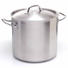 Stock Pot 40Lt Stainless Steel Commercial Catering 18 / 10 With Lid