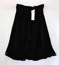 COTTON ON Brand Black Woven Romy Shirred Midi Skirt Size XS BNWT #TI05