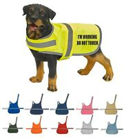 I'm Working Do Not Printed High Vis Hi Viz Dog Pet Safety Vest Reflective Coat