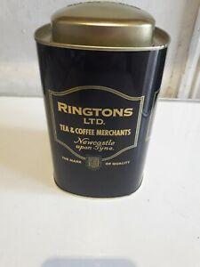 Ringtons Tea Caddy - Metal Black 17cm coffee caddy