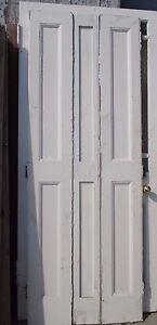 "Reclaimed three panel period pine window shutter shutters 29"" wide x 81""x 1 3/8"""