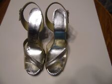 """WOMEN'S PUMPS-""""CITATIONS""""  - SIZE 6 1/2- 4"""" HEELS-CLEAR WITH SILVER"""