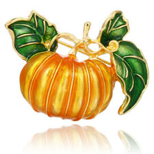 Enamel Pumpkin Brooch Pin Banquet Badge Suits Shirt Collar Pin Jewelry Gift PT