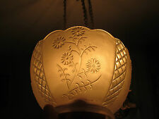 Gas Light Shades - 3 matching - FLORAL DESIGN / Frosted - Clear