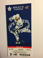 TORONTO MAPLE LEAFS VS COLUMBUS BLUE JACKETS OCTOBER 21, 2019 TICKET STUB