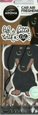 AROMA - CAR AIR FRESHENER - SAUSAGE DOG - ICE                   *NEW AND SEALED*