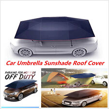 Portable Semi-automatic Car Umbrella Sunshade Roof Cover Tent UV Protection New