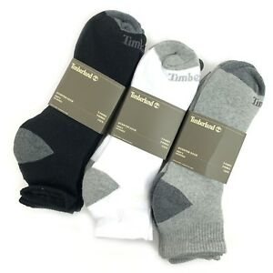 Timberland Men's Basic Quarter Crew Cotton Socks (3-PACK)