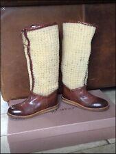 EVA TURNER BOOTS 37/4 BN UNWORN RRP£285 Leather/sheepskin